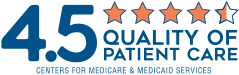 Centers for Medicare and Medicaid Services 4.5-Star Quality of Patient Care Rating